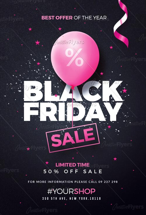 Creative Black Friday Flyer - Premium PSD Flyer Template