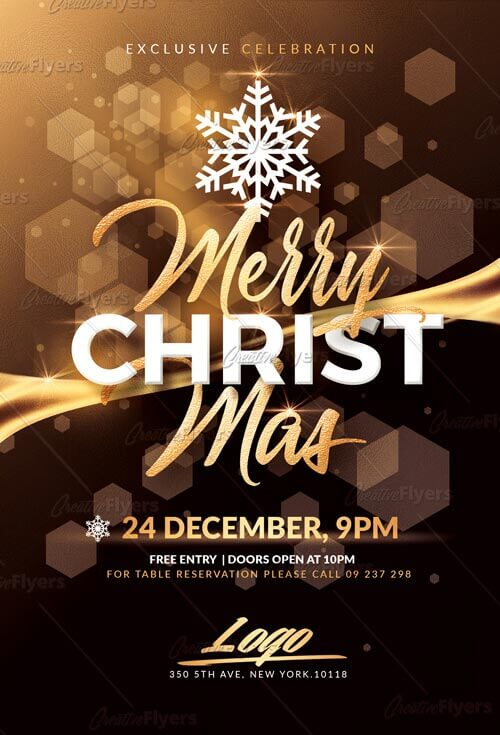 Merry Christmas flyer templates