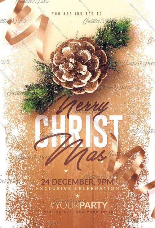 Christmas Invitation flyer templates
