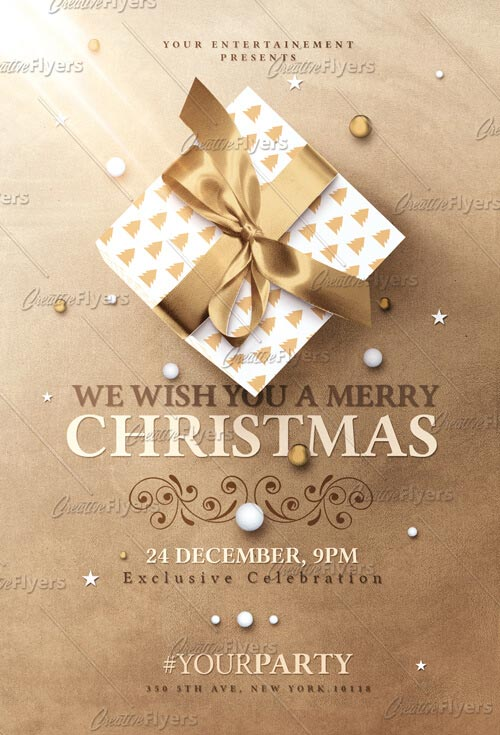 Christmas Invitation flyer templates