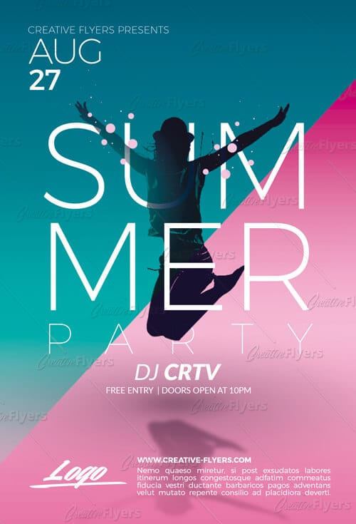 Summer Party Flyer Psd Templates Creativeflyers