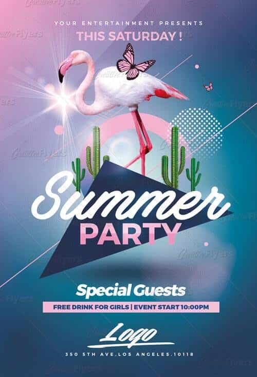 download summer party psd templates creativeflyers