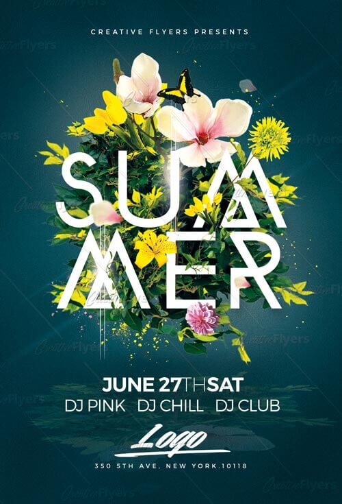 Summer Flyer Templates Psd