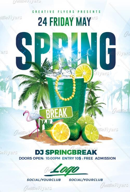 Spring Break flyer party