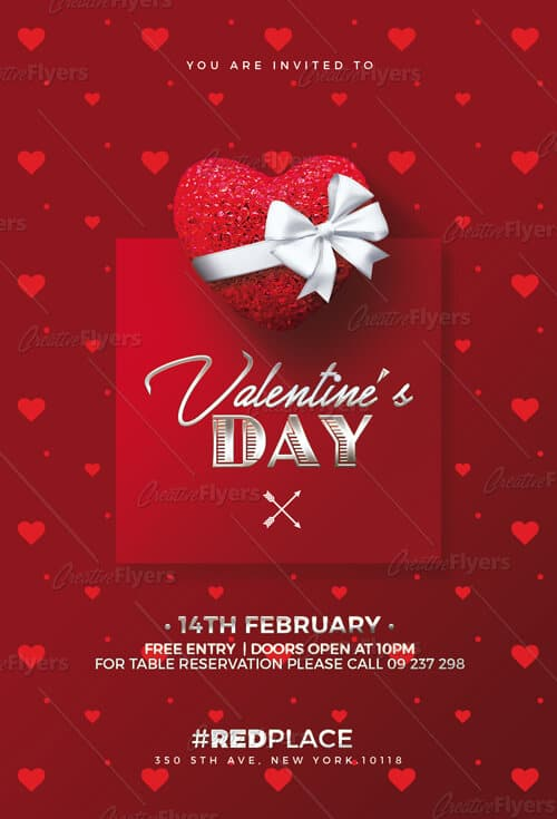 Red Valentine's day Invitation