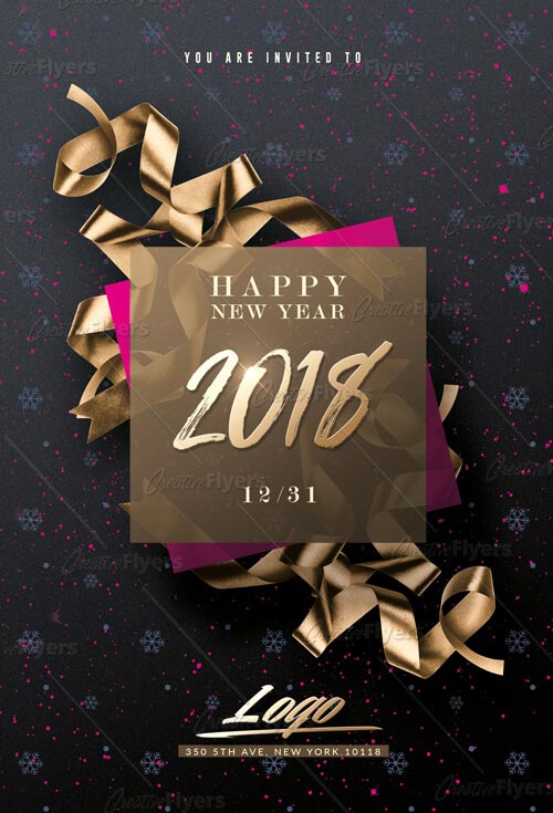 New Year flyers templates