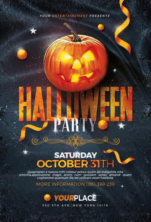 event flyer templates halloween flyers psd creative flyers