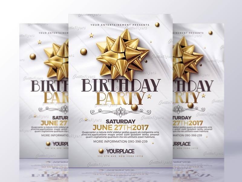 Classy Birthday Flyer Psd