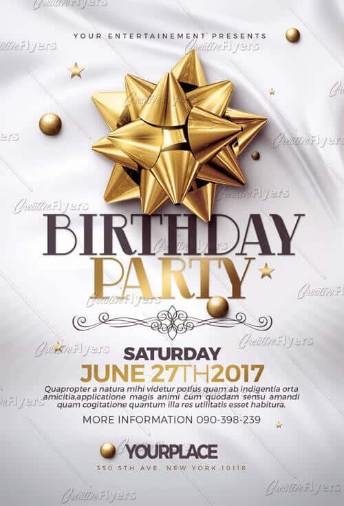 Creative Classy Birthday Flyer Template