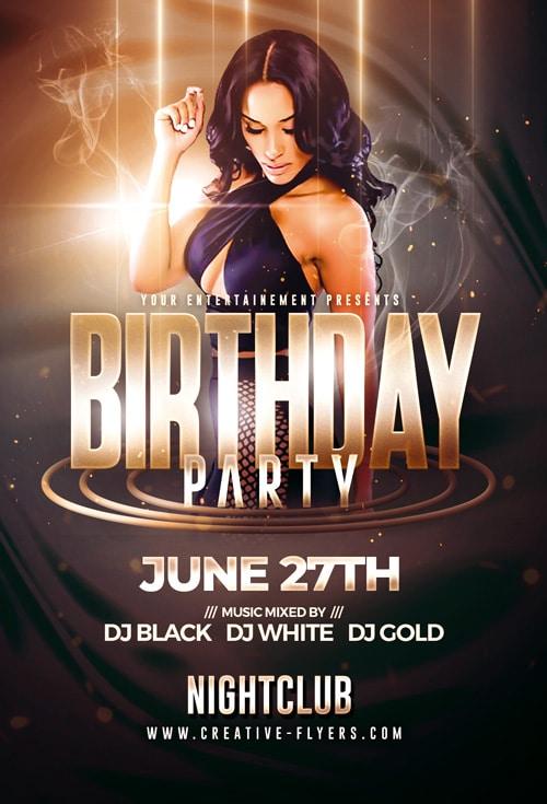 Birthday Party Flyer Templates Psd