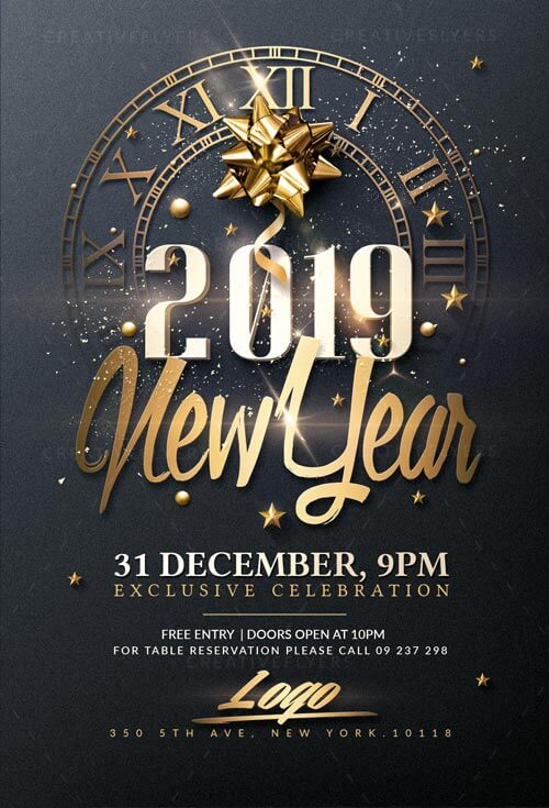 New Year Psd Flyer