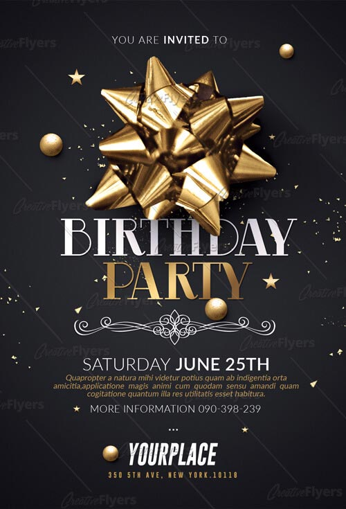 Birthday Party Flyer Templates Psd
