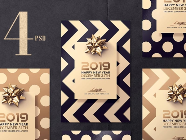 Elegant New Year Flyer Templates