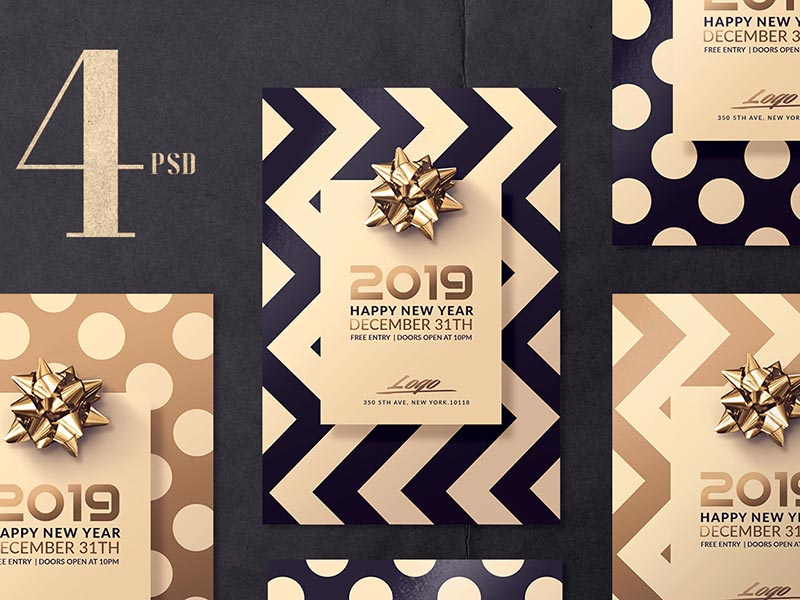 Elegant New Year Flyer Templates