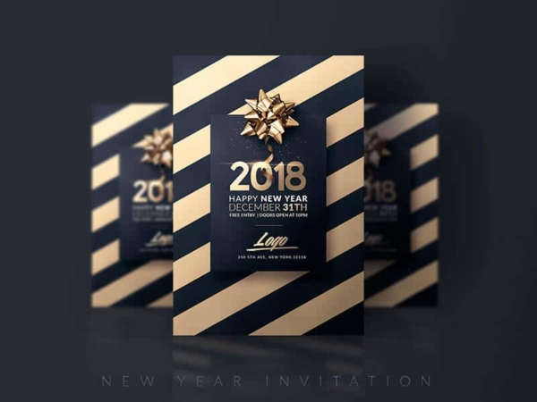 Elegant New Year Flyer
