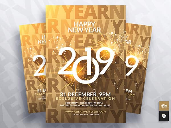 happy new year flyer