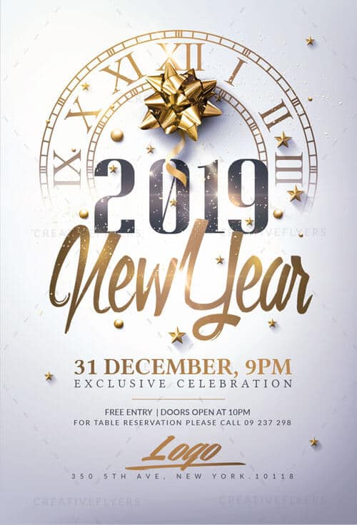 new year invitation flyer psd templates creative flyers