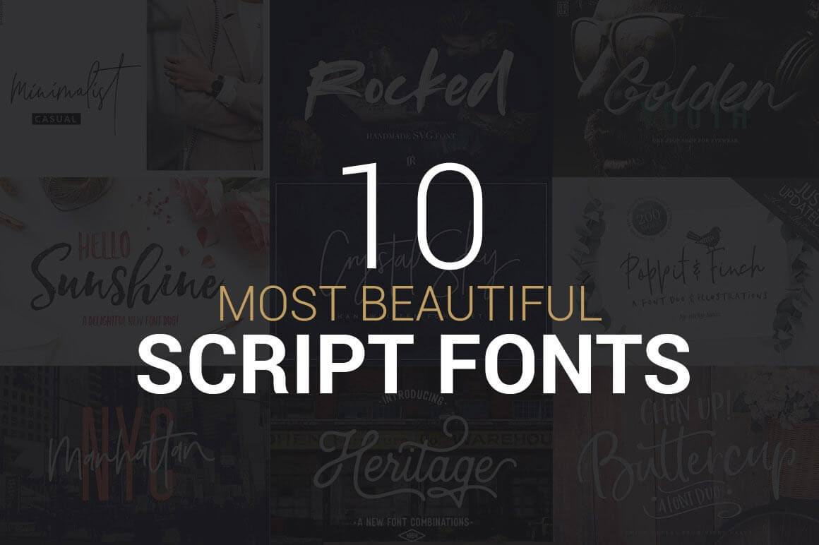 10 Most beautiful Script Fonts | Collection