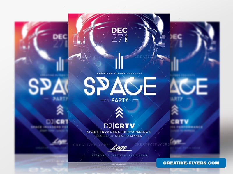 Space flyer psd