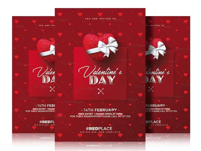 Valentines Day Invitation Psd Files Creative Flyers