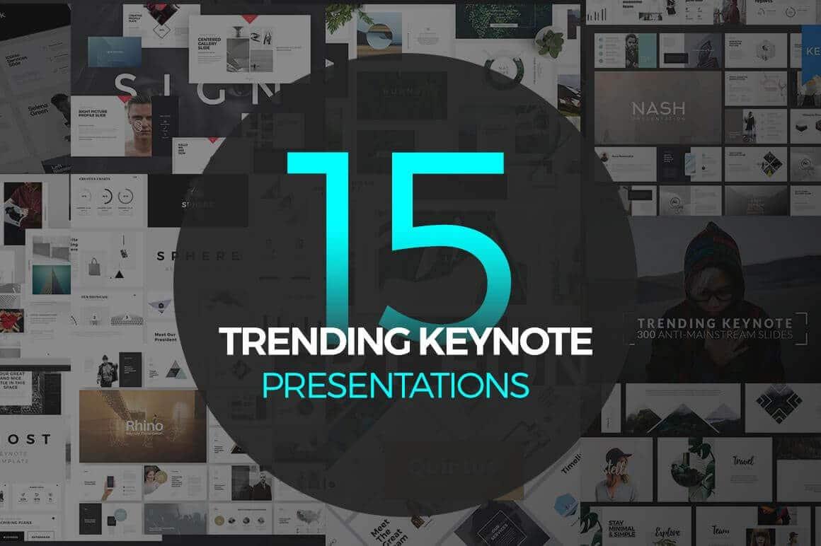 15 Trending Keynote - Templates - Presentations