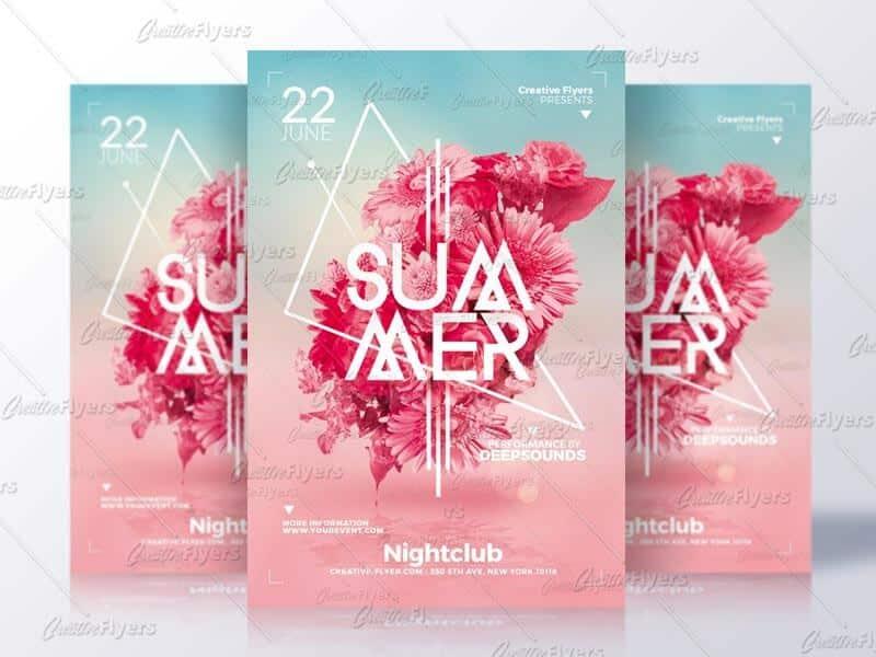 creative summer psd flyer