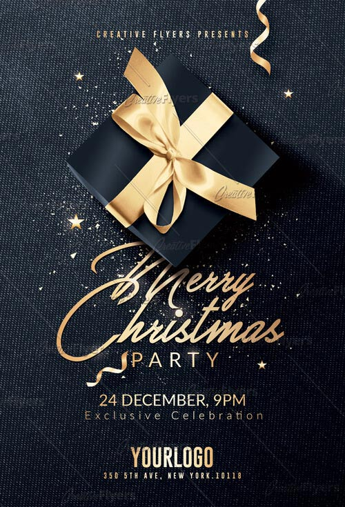Merry Christmas flyer templates creativefyers