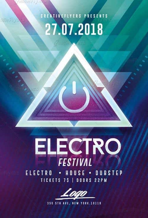 Electro Festival Flyer Templates Psd