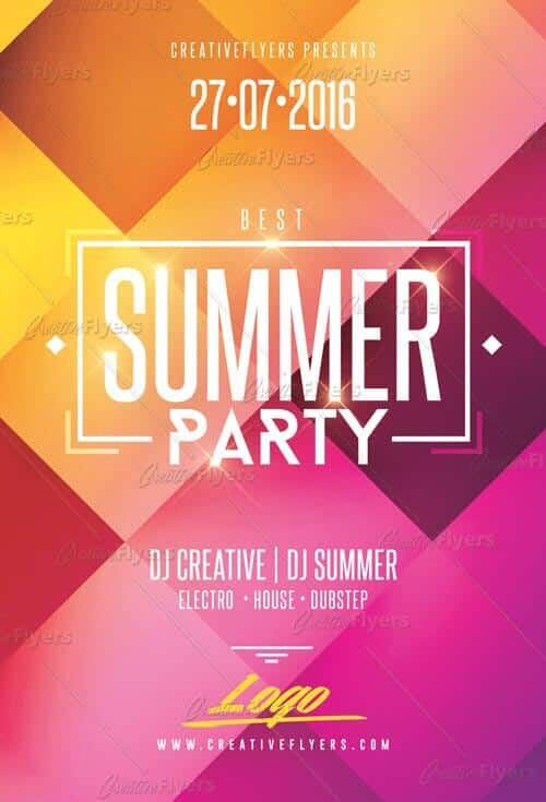 summer party flyer for photoshop creative flyers