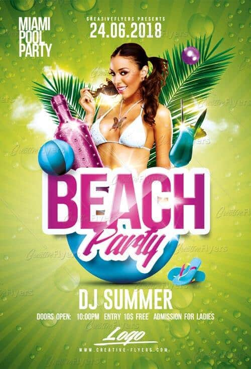 Summer Beach Party Creative flyers