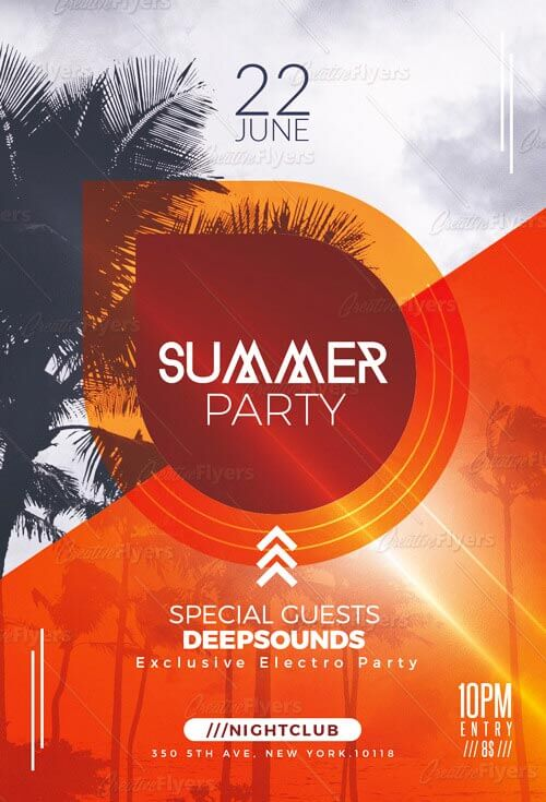 Summer Minimalist Flyer Templates creativeflyers