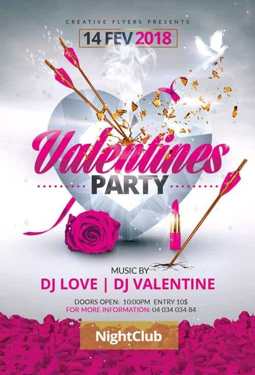 valentines day party creativeflyers