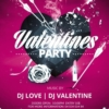 Pink & black Valentines Day Party Flyer