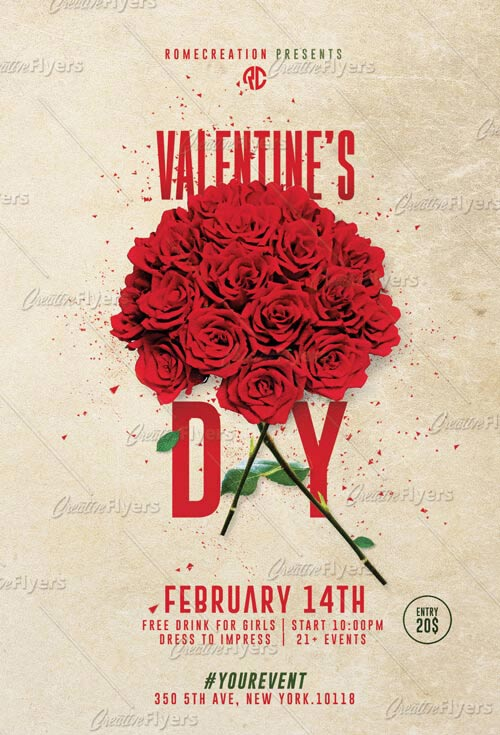 Valentines Flyer Templates Psd