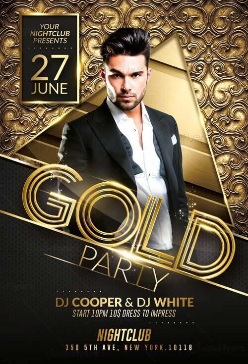 Gold Flyer Template