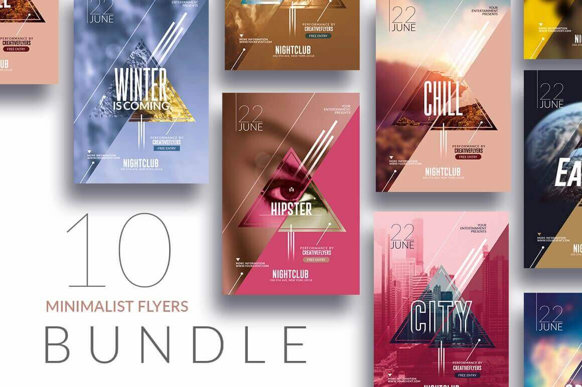 10 minimalist flyer bundle