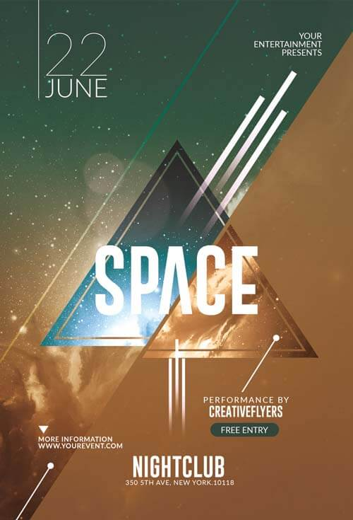 10 trendy minimalist Flyer templates creativeflyers