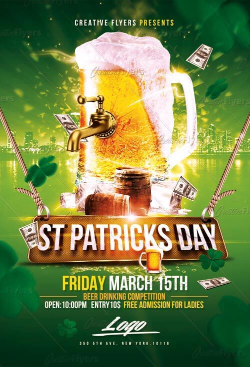 Download St Patrick S Day Flyer Psd Templates Creative