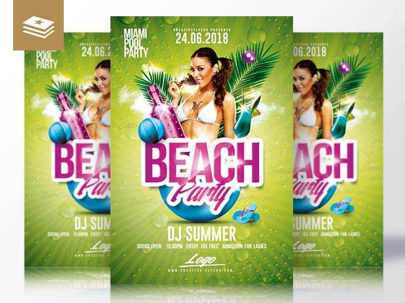 Beach Party Flyer Templates