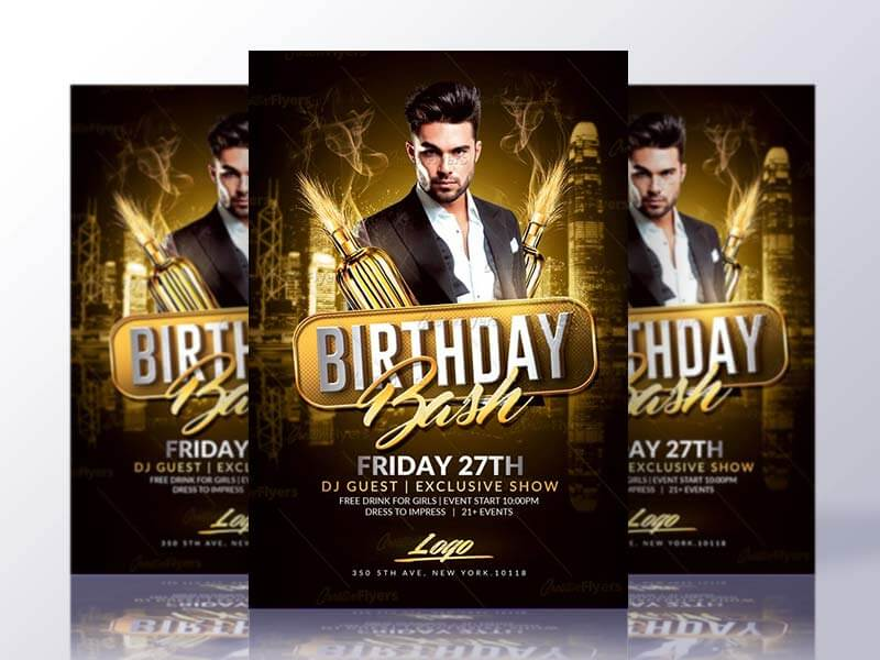 Birthday Flyer Psd Templates