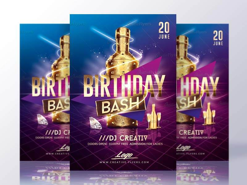 Birthday Bash Flyer Templates Psd