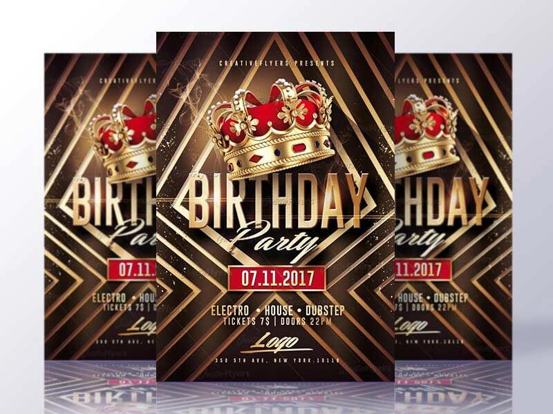 Birthday Party Flyer Psd