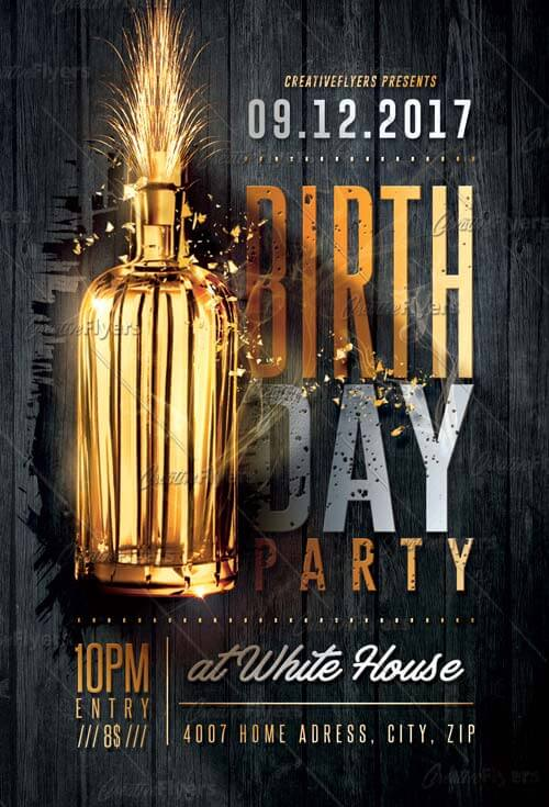 birthday party club flyer psd templates creative flyers