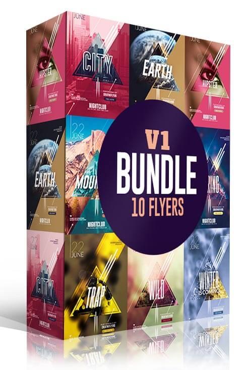 10 Minimalist Flyer Templates Bundle