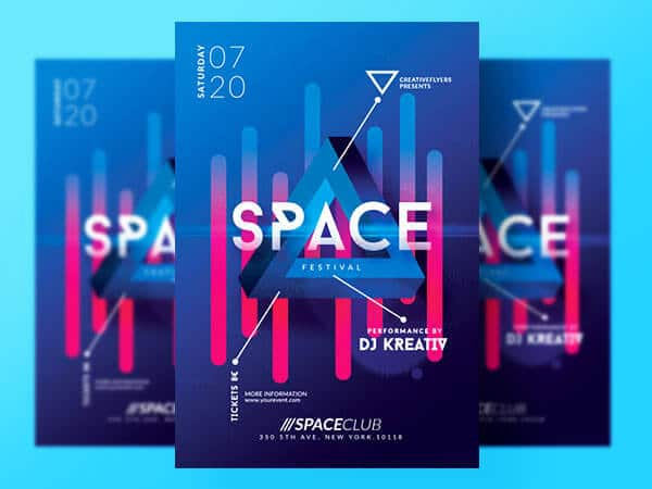 Space Festival Flyer
