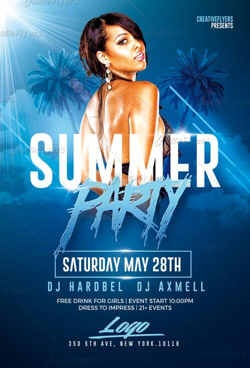 Summer Party Flyer Psd Templates