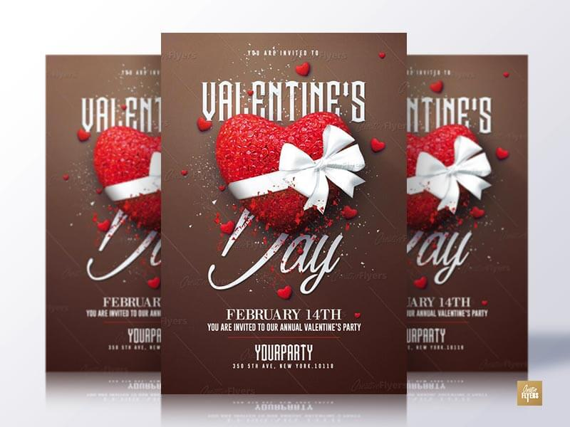 Happy Valentine's Day Flyer Psd