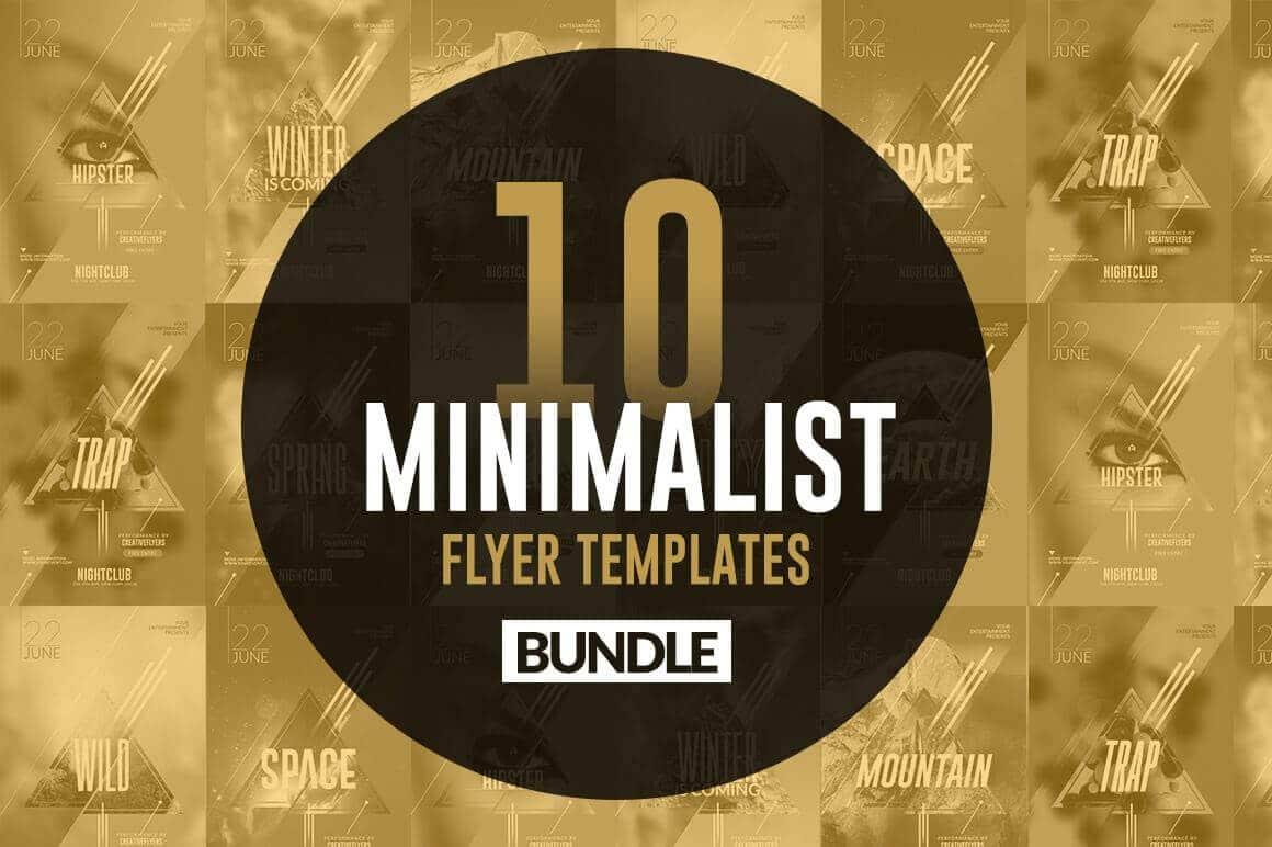 10 trendy minimalist flyer templates creative flyers