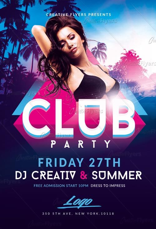 download summer club party flyer templates creative flyers