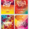 4 Flyer Templates Summer Bundle